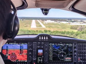 Pilot cockpit aviation training