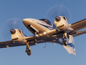 flying the Diamond DA-42 VI turbocharged diesel piston twin,
